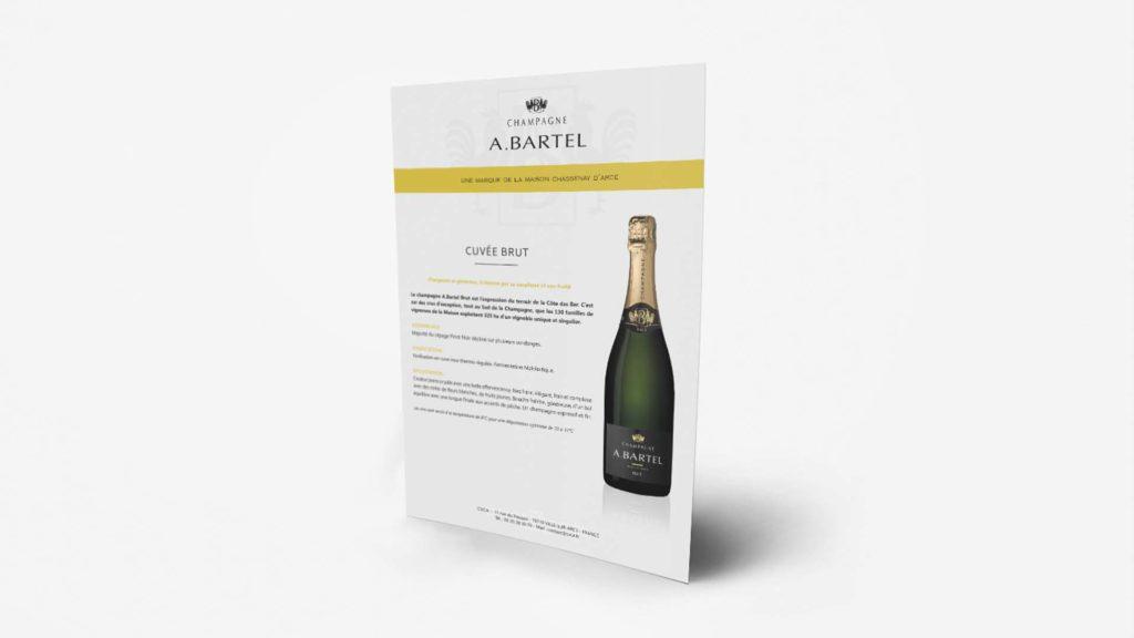 fiche technique champagne création
